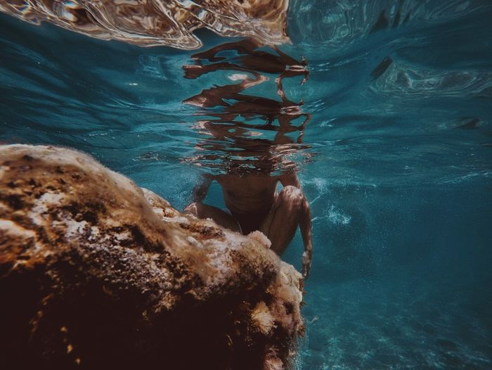 Water Sea Underwater Swimming One Person UnderSea Leisure Activity Swimming Pool Turquoise Colored Clothing Sport Adult Exploration Day Women Outdoors Swimwear Nature Real People Lifestyles Capture Tomorrow
