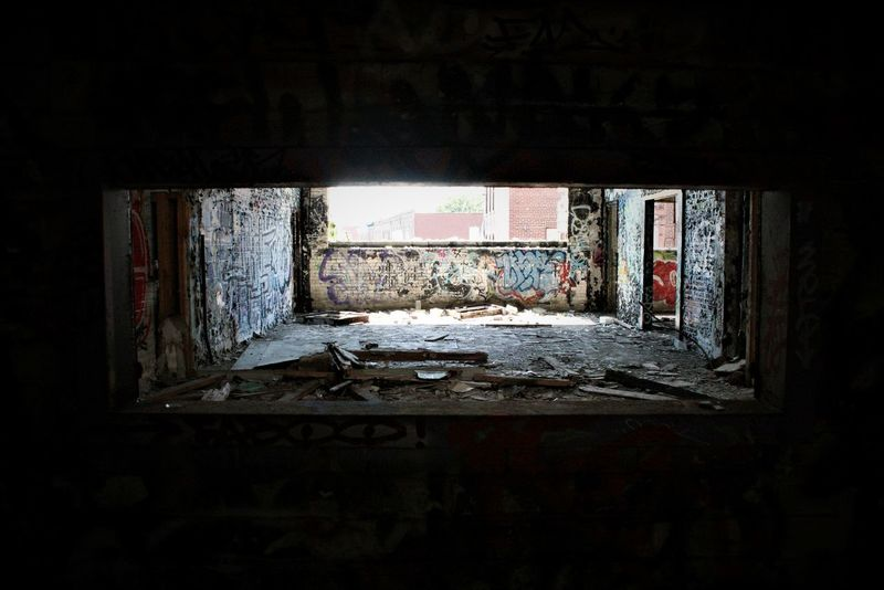 Abandoned Abandonned Building Architecture Bad Condition Built Structure Damaged Dark Indoors  Squat Unhygienic Urbex Window