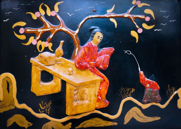 Chinese Monalisa 🎨 Handmade ArtWork Illustration Art Artful Artfair La Joconde Paint Painting Piece Of Art Casual Visual Witness Mobilephotography Shootermag AMPt_community Vscocam VSCO Snapseed AndroidPhotography Androidography Oilpaint Multi Colored Open To Interpretation