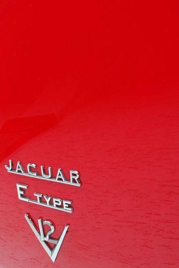 Classic Car Jaguar E-Type Red Cars