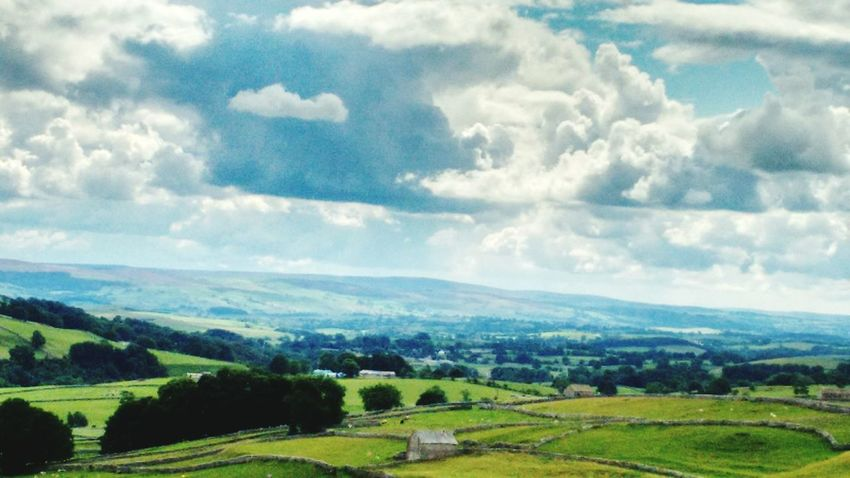 Yorkshire GodsOwnCountry View Vista Countryside Sky See For Miles Clouds And Sky Malham Malham Cove