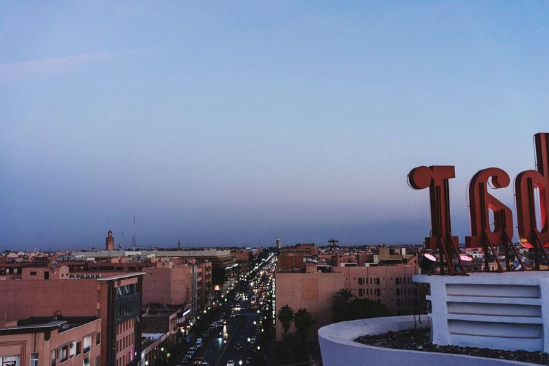 marrakesh rooftop sunset Marrakesh Marrakech Marocco Sunset Tourism Travel Night Roof Skyline Rooftop Outdoors No People Built Structure City Mobility In Mega Cities