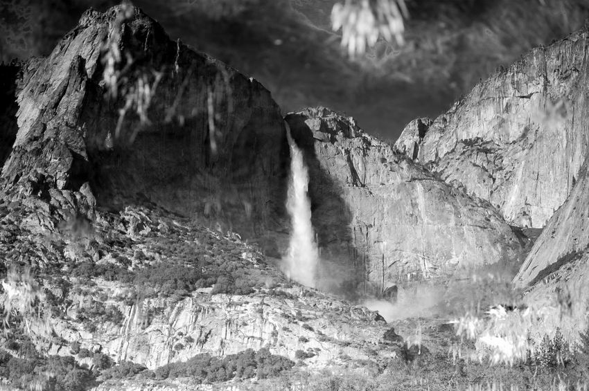Mountain Dive National Park Nature Reflection Yosemite National Park Blackandwhite Landscape Mirroring In Water Rock Water Waterfall This Is Strength Holiday Moments A New Perspective On Life Capture Tomorrow