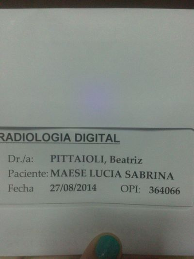 Chan,chan,chan,chaaaaaan Finished Result Hospital:( Argentina Comodoro Rivadavia Chubut