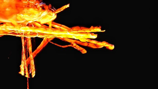 Long Exposure Light And Shadow Cross Having Fun Night Time Marshmallow On Fire Fire Flame Abstract