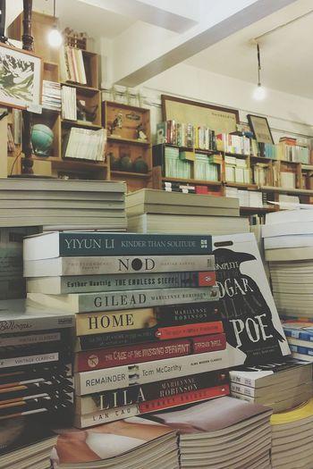 Books Stacks  Bookshop Retro Interior Tiong Bahru Singapore
