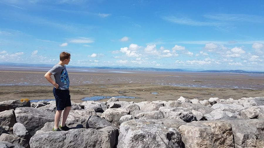 Water Sea Full Length Beach Sand Standing Blue Summer