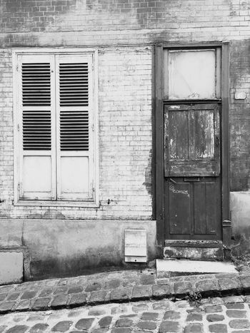 Steep decay Window Door Architecture Building Exterior Deterioration Weathered Façade No People Urbex Decay
