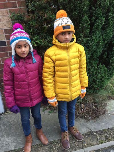 Amelia Miah Adam Miah Childhood Child Warm Clothing Boys Children Only Cold Temperature Winter