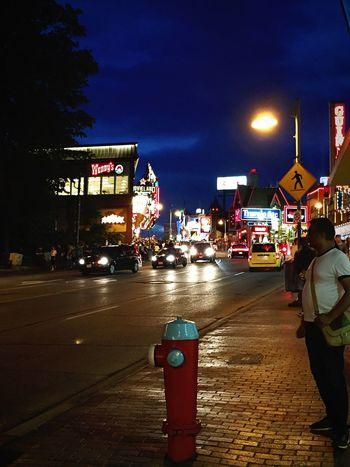 Night Life Night Life Illuminated Street City Life Niagrafalls