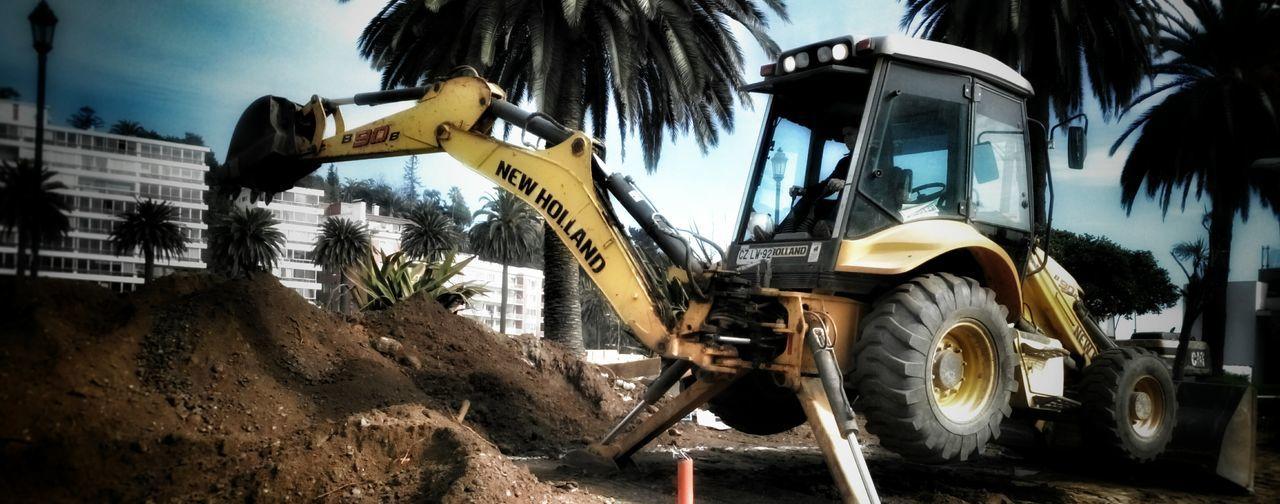 New Holland Machine Construction Construction Site Chile Viña Del Mar