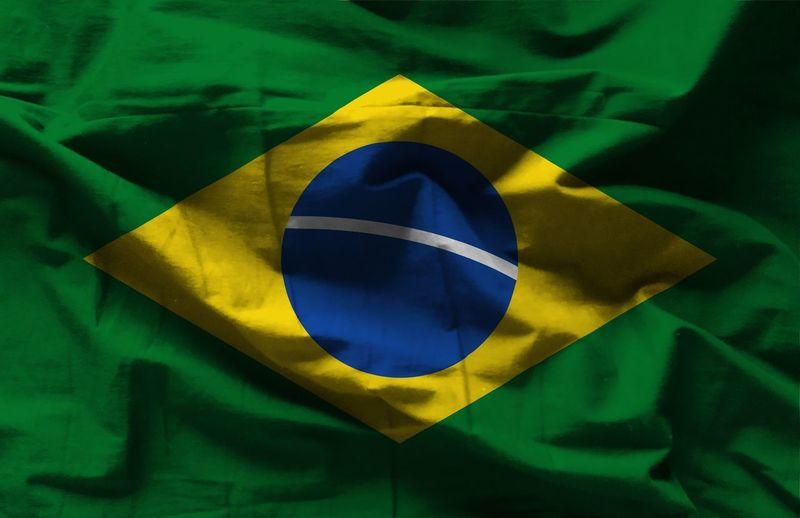 brazil flag Brazil Flag Americauna Chicken Sud Rio De Janeiro No People Green Color Yellow Blue Close-up Textureù Patriotism
