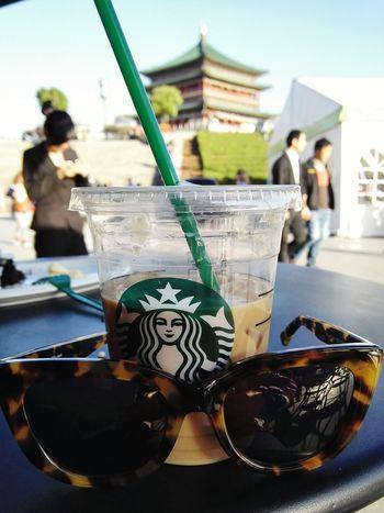 Starbucks Coffee Starbucks ❤ Bell Tower People Watching