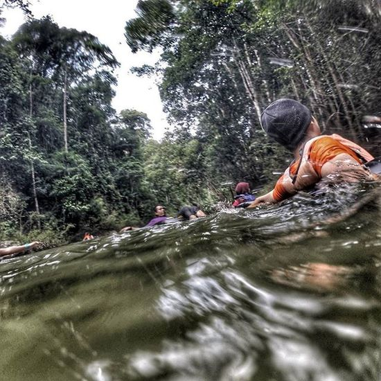 Water tubing at Lubuk Yu 1sthammockcampinggathering Lubukyu Malaysia Beautyofmalaysia River Waterfall Nature Watertubing Outdoorlife Outdoors Green Gopro Goprooftheday Goprohero3 Gopronation Goprotography Worldofgopro Goprouniverse