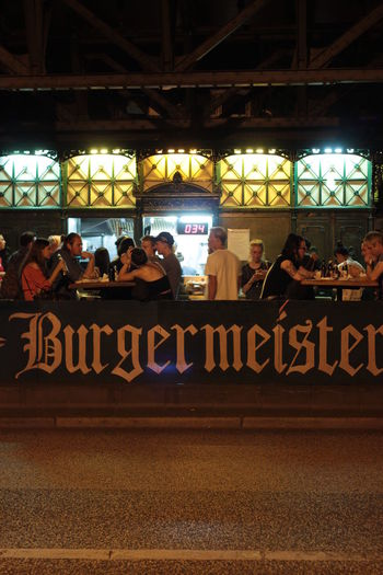 Best burger in town Berlin Burger Time Burgermeister Meisterburger German Burger Nightinberlin Nightlife People Street Food First Eyeem Photo