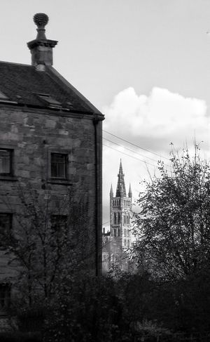 Architecture No People Outdoors Sky Building Exterior Day Black And White Photography GlasgowUniversity