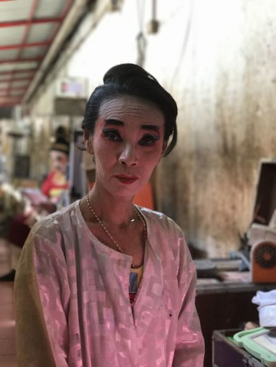 Backstage of a temple show in Bangkok Actress ASIA Buddhist Buddhist Performer Buddhist Temple Front View Headshot One Person People Portrait Real People Thai People Thailand
