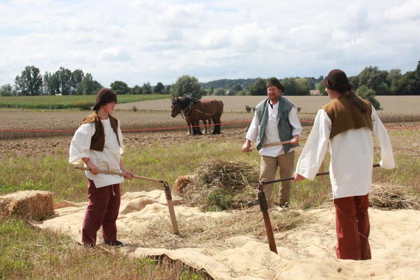 Campagne Belge Ellezelles , Belgium Fête De La Moisson Paille Traditions Anciennes