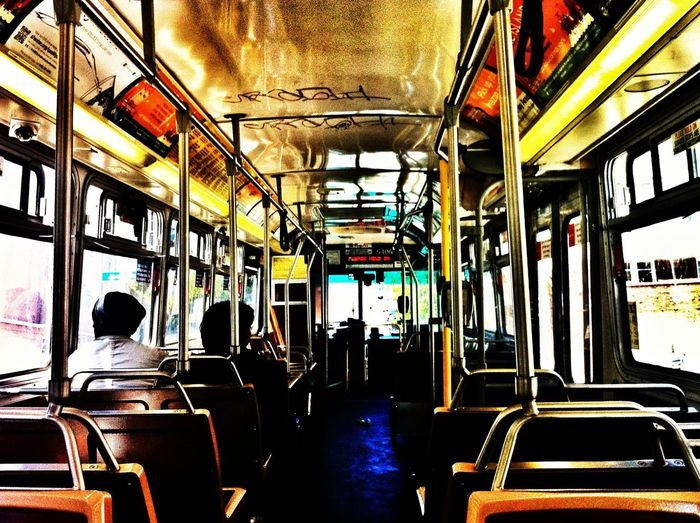 Mid afternoon before Rush Hour Emptyseats On pPublic Transportation Makes Commuting A breeze! My Daily Commute