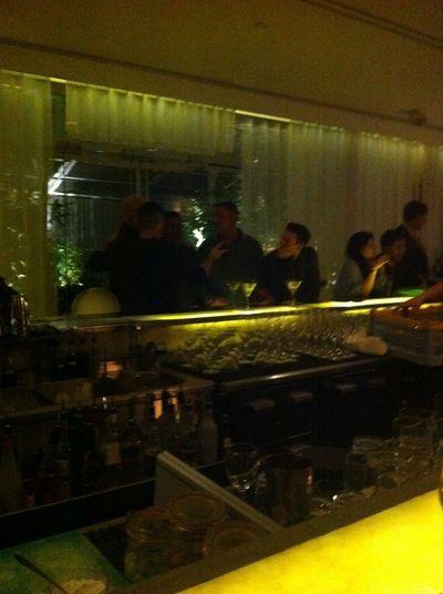 Checking in at Long Bar at Sanderson Checking In