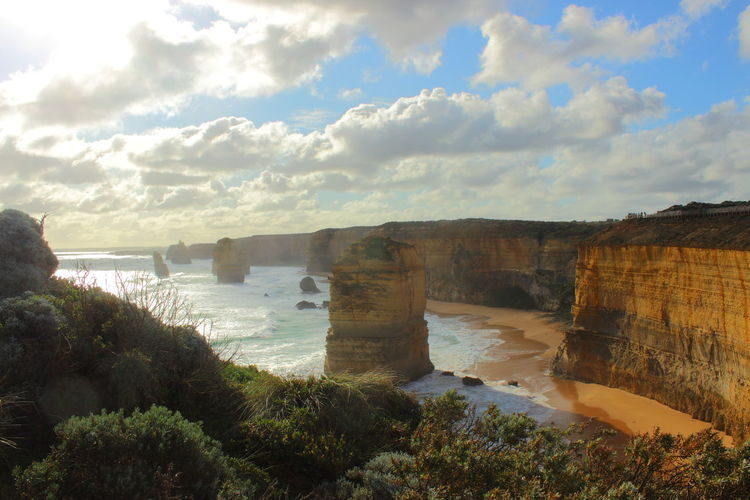 12 Apostel 12 Apostles Australia Australian Landscape Beauty In Nature Cliff Cliffs Cloud - Sky Coastline Coastline Landscape Day Great Ocean Road Great Ocean Road, Australia Nature No People Outdoors Rock - Object Scenics Sea Sea And Sky Sky Sunset Tranquility Travel Destinations Water The Great Outdoors - 2017 EyeEm Awards