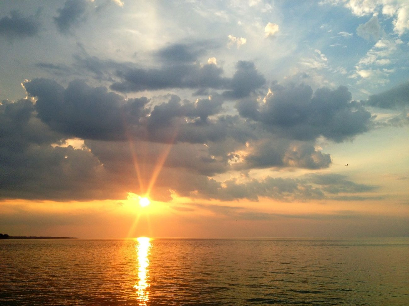 IPhoneography Sun_collection Water_collection Sunset On Lake Erie
