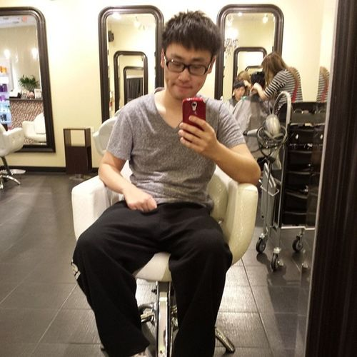 Before Coloring Hair At airplus new style first time hkig ighk hkboy 2014 newyear newstyle