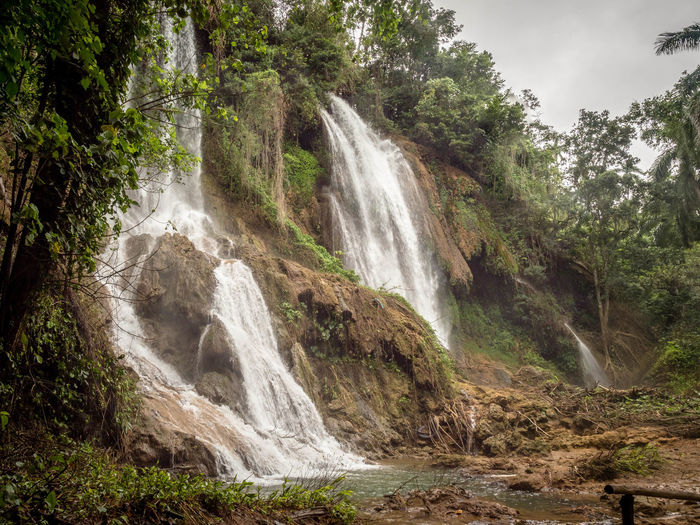 Cuba Tree Beauty In Nature Scenics - Nature Plant Waterfall Land Forest Water Rock Motion Flowing Water Environment Long Exposure Day Rock - Object Nature Non-urban Scene No People Solid Outdoors Rainforest Flowing Power In Nature Falling Water