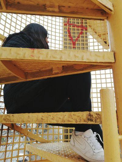 Metal Grate Prison Cage Close-up