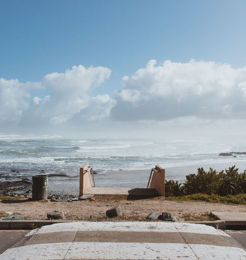 Street views Sea Water Horizon Over Water Beach Sky Day Cloud - Sky No People Beauty In Nature Nature Sand Outdoors Tranquility Scenics Streetphotography EyeEm Gallery Eye4photography  The Week On EyeEm EyeEm Best Shots EyeEm Selects Vacations South Africa