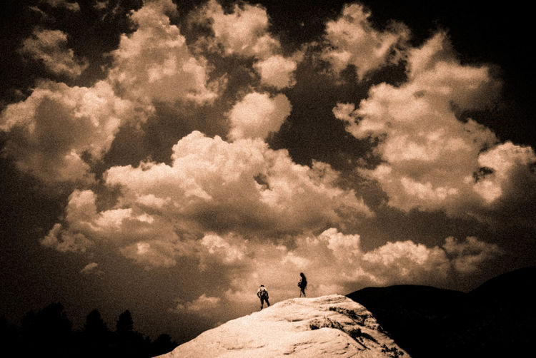 Old School Beauty In Nature Cloud - Sky Leisure Activity Montains    Mountain Nature People Scenics - Nature Sepia_collection Seppiaeffect Silhouette Sky