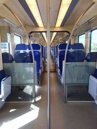 My Commute Empty Train Netherlands Railway Journey Traveling Transportation Infrastructure Connection Dayly Trip Intercity Intercity Train Intercityexpress