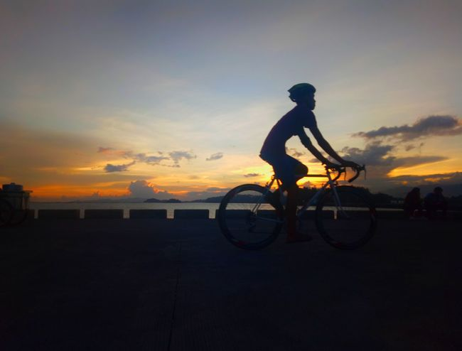 Sunset Bicycle Silhouette Cycling Sky One Person Dusk Full Length Cloud - Sky Sport People One Man Only Only Men Adult Mountain Bike Outdoors Nature Adults Only Water Day Horizon Over Water Dramatic Sky Ship Sorsogon Sorsogoncity
