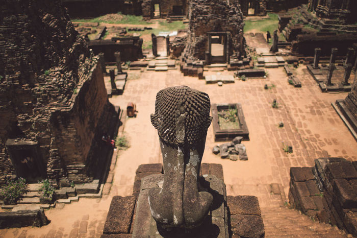 Siem Reap Cambodia Angkor Architecture Built Structure Representation Sculpture Art And Craft Statue History The Past Human Representation Religion Creativity Travel Destinations Belief Day Spirituality Ancient Travel Tourism Place Of Worship Stone Material No People Outdoors Ancient Civilization