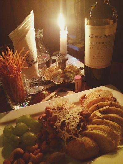 Wine Melrot Brie-cheese Friday Night