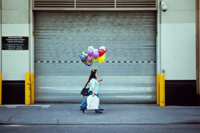 Architecture Balloon Building Exterior Childhood Day Outdoors People Real People The Street Photographer - 2017 EyeEm Awards Two People