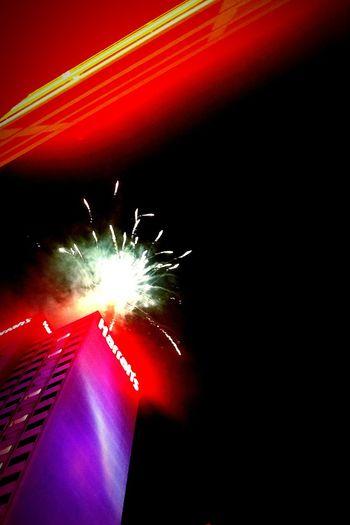 NYE Fireworks Illuminated Exploding Firework Display Celebration Reno, NV Sky City Outdoors Winter New Year Eve's Fireworks EyeEmNewHere The City Light