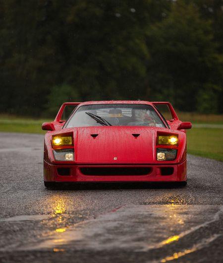 Ferrari F40 Ferrari F40 Blenheim Palace Salonprive Rain Wet V8 Supercar Red First Eyeem Photo