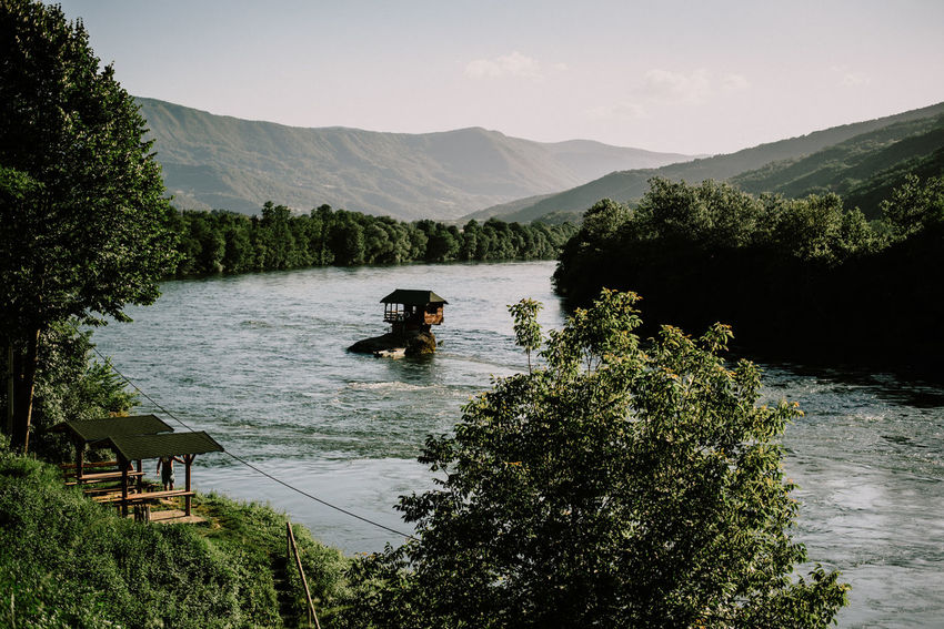 Drina River Bajinabasta Beauty In Nature Day Drina House House On River Nature River