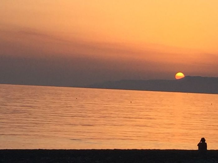 Calabria Italy Sunset Sun Sea Season Summer Relaxing Tourism