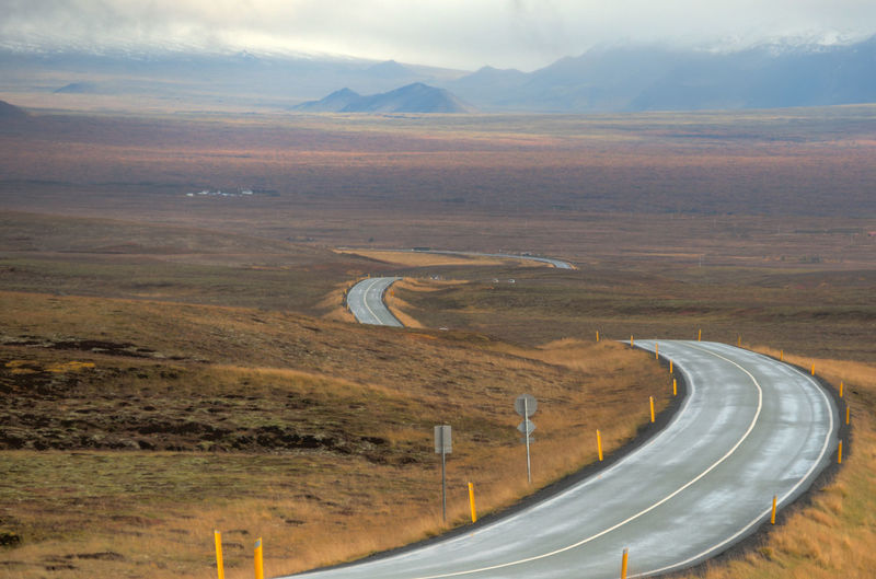 Beauty In Nature Country Road Diminishing Perspective Empty Empty Road Horizon Over Land Iceland Iceland_collection Landscape Mountain Mountain Range Nature No People Non-urban Scene Outdoors Remote Reykjavik Road Road Marking Scenics The Way Forward Tranquil Scene Tranquility Vanishing Point