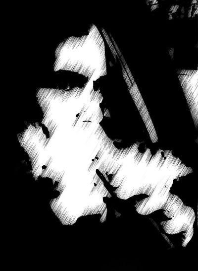 Twisted Portrait Light And Shadow Selfportrait Don't Get In The Van Black & White Vape Dark Portrait ARTFUL SMOKING FETISH
