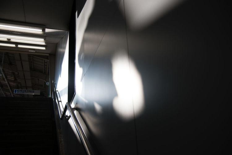 Shadow On Surrounding Wall At Subway