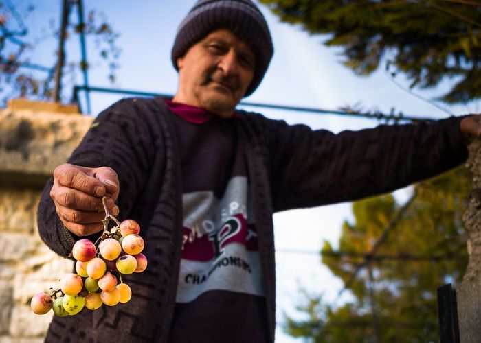 November's grape is a rarity in Lebanon, but when found, the sweetness of their flavor is indescribable. Here, offered to me by a nice man at the beautiful high altitude village of Maasser Al Shouf. Lebanon. Showcase: November Grapes Grape Vine Farmer Fresh Produce Fruit Nature Autumn Fall Beauty Fall Colors Lebanon Mountain Mount Lebanon Leipzig Leicacamera LeicaM9 ELMARIT-M 28mm F2.8