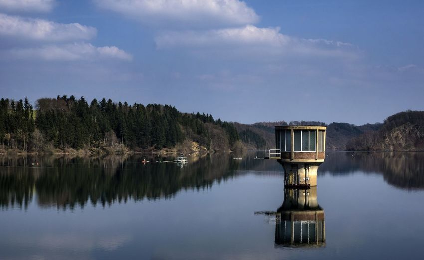 Wahnbachtalsperre Wahnbachtalsperre Siegburg Germany🇩🇪 Talsperre Water Tree Lake Reflection Sky