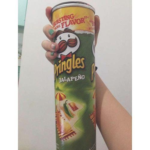 Midnight craving satisfied!! Pringles Jalape ño Junk