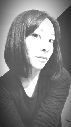 That's right, back to short hair! New year, new look~ Narcissistic Tendencies Blackandwhite Self Portrait That's Me! Lasian Serious Young Adult Young Women One Person Portrait Front View Indoors  Love Yourself Inner Power