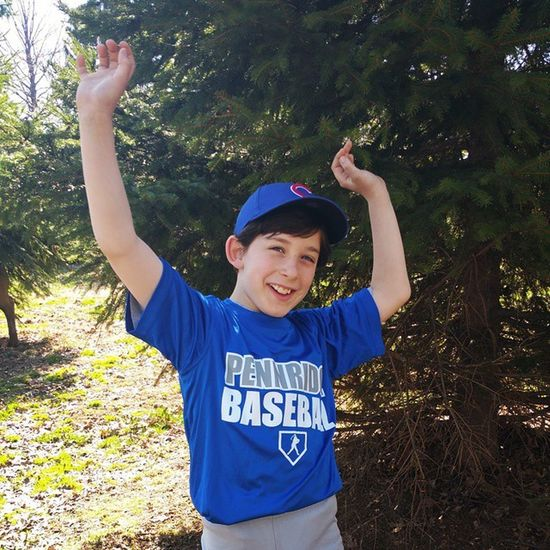 My boy! Baseball Littleleague Openingday Pennridgelittleleague Pennridge Cubs  Boys Mysoniscuterthanyours Blue Randyorton Theviper Wwe