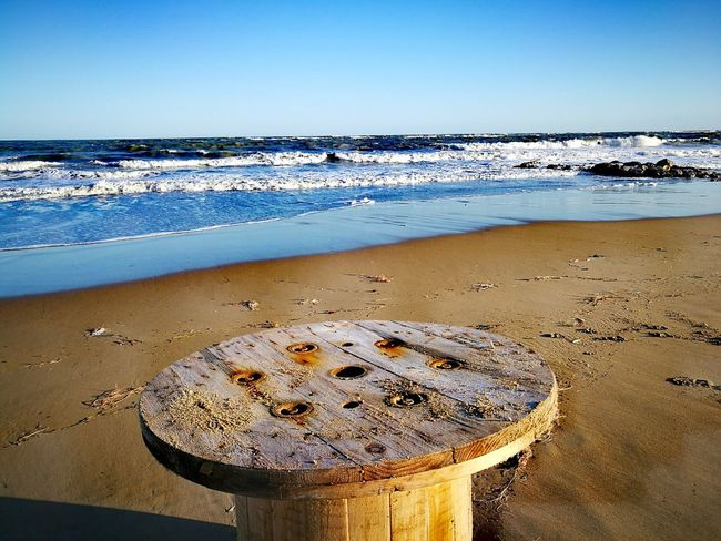 Sky Nature Water No People Outdoors Refraction Beauty In Nature Close-up Day Wooden Wooden Tools Abandoned Object Sand Finding New Frontiers