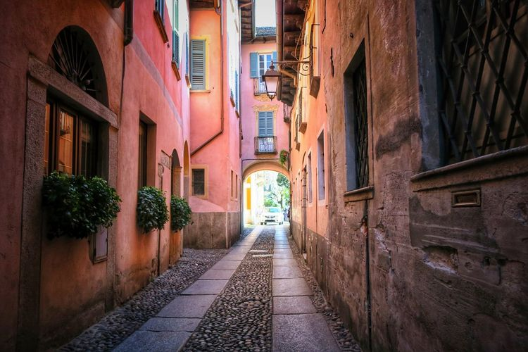 Narrow footpath in old town
